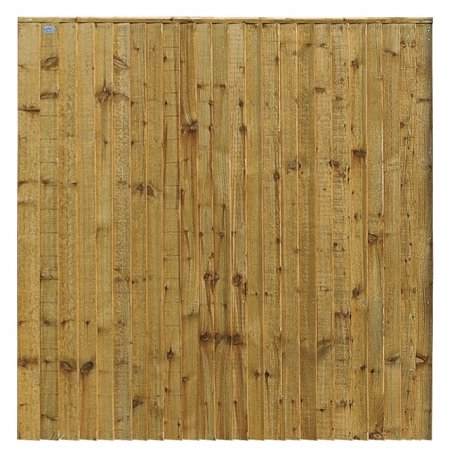 A photo of a closeboard panel-green