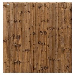A photo of a closeboard panel-brown
