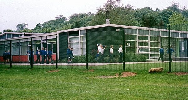 A photo of a Knight Fencing school fencing installation