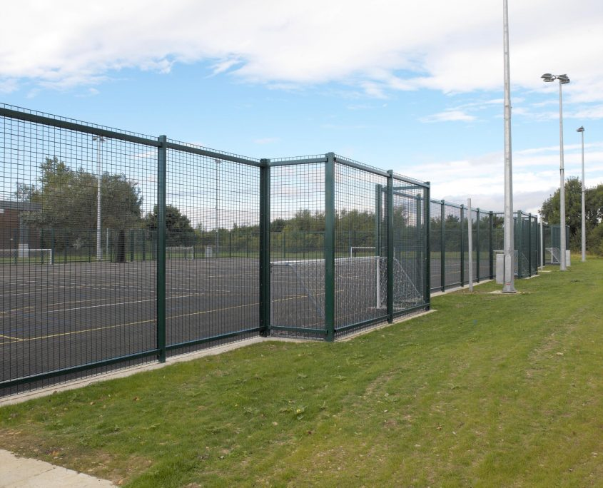 Photo of ball court fencing for a School