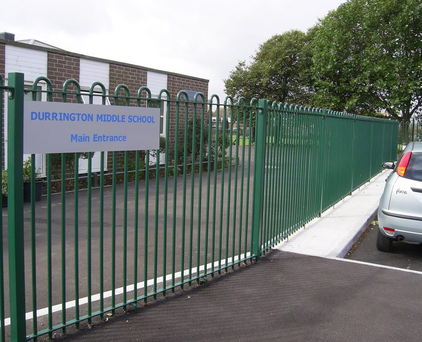 A photo of fencing installed for Durrington School