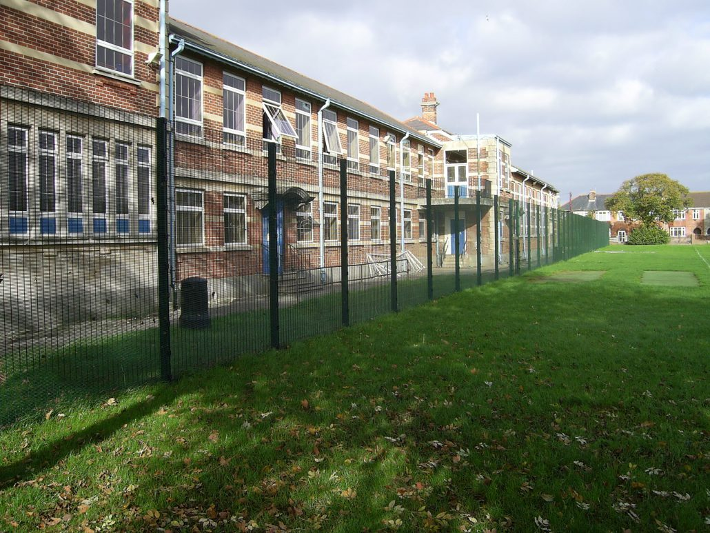 school security fencing installation at florence road chichester
