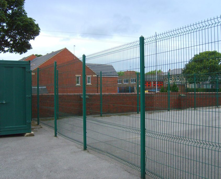 A photo of mesh fencing for Chichester High Schools