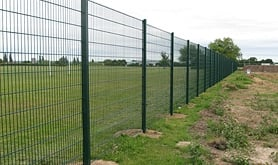 A photo of mesh panel perimeter fencing we supplied and installed.