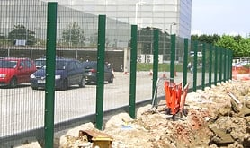A photo of the mesh panel perimeter fencing we supplied and installed and multi-use games areas for new schools in Southampton.