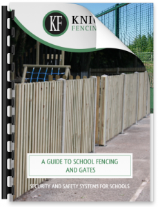 Graphic for Free guide for school fencing for specifiers