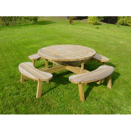 A photo of a 8 Seater Round Picnic Table