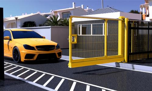9100 manual sliding gate for car park