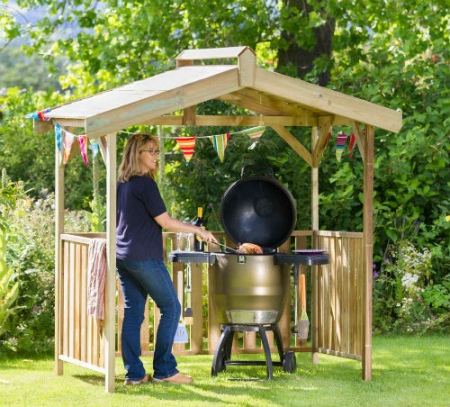 the wooden ashton bbq shelter for gardens