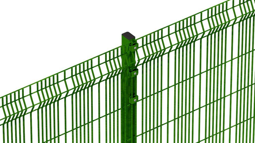 A photo of a Heras Athena Mesh fence