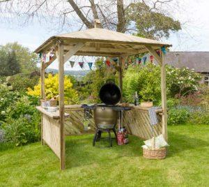 Broxton Gazebo - Outdoor Wooden Shelter