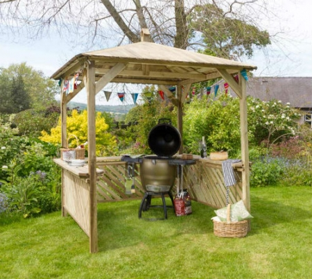 Broxton Gazebo - Outdoor Wooden Shelter