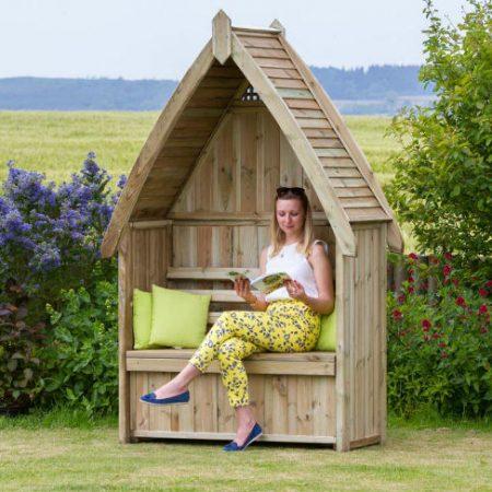 photo of Cheltenham Arbour wooden garden furniture with Storage Box