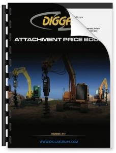 DIGGA attachment price book