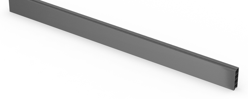 Fencemate DuraPost Gravelboard in Anthracite Grey