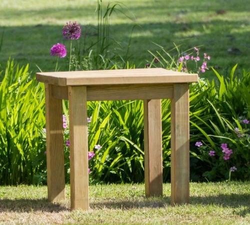 Garden Side Table Wooden, Wooden Side Table For Garden