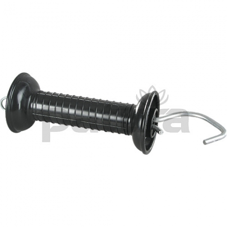 Photo of a black plastic Electric Fence Gate Handle