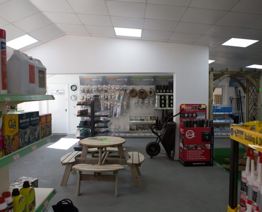In store at Knight Fencing Chichester