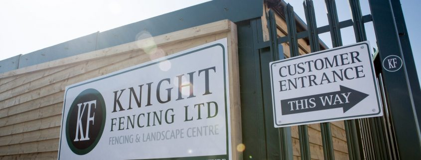 Chichester fencing and landscaping store sign