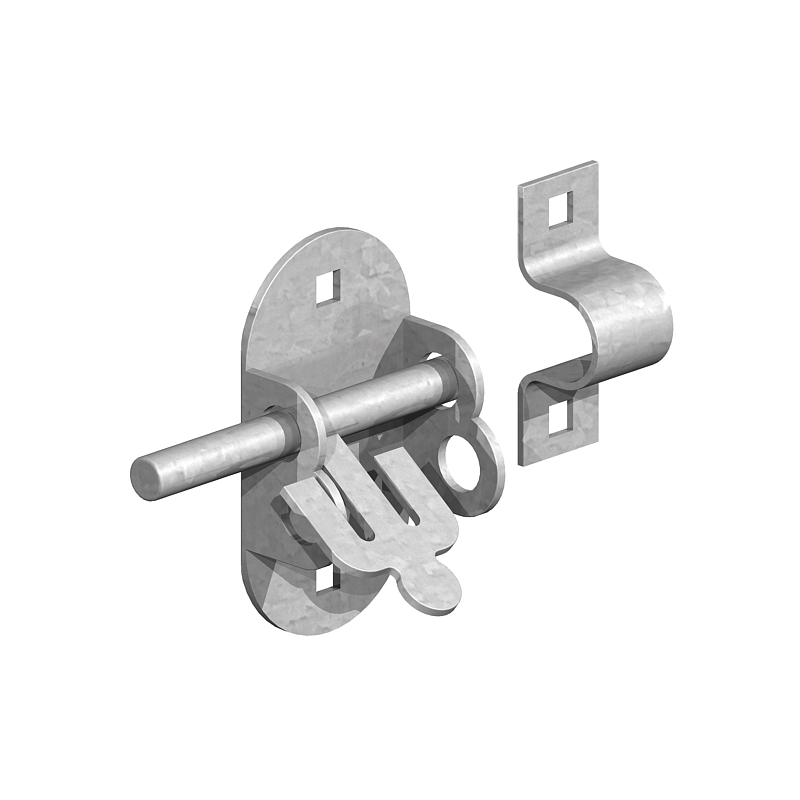 Oval Pad Bolt Gate Latch And Lock Knight Fencing