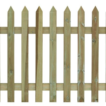 Photo of a Pointed Top Palisade Fencing