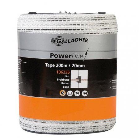 Powerline Tape 20mm White 200m