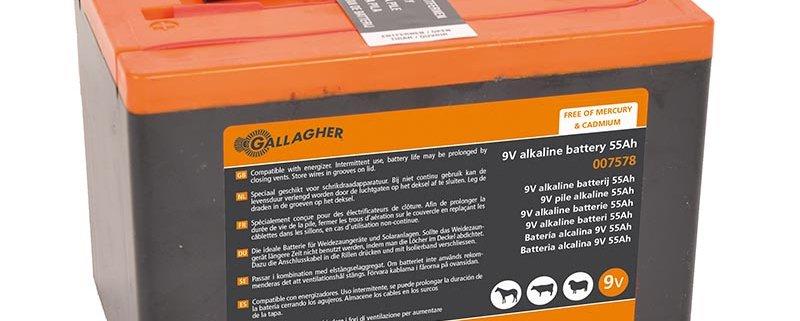 Powerpack battery Alkaline 9V 55Ah - 160x110x115mm