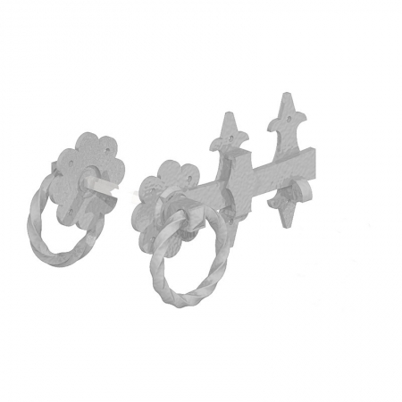 A photo of a ornamental ring latch