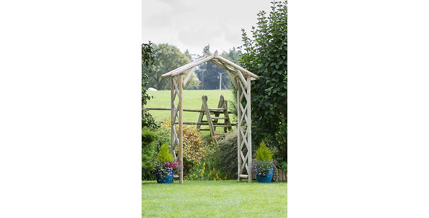 Photo of a Rustic Arch