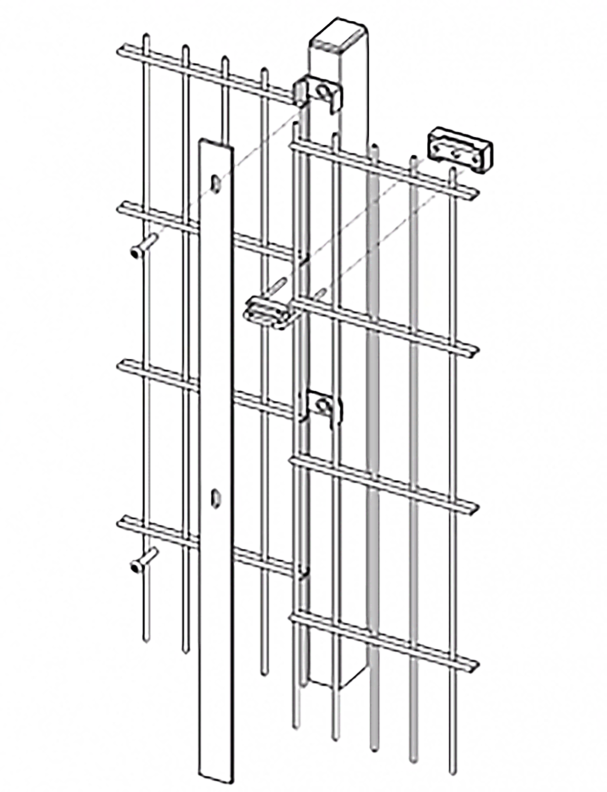 An illustration of the Heras Pallas Xtra Fence