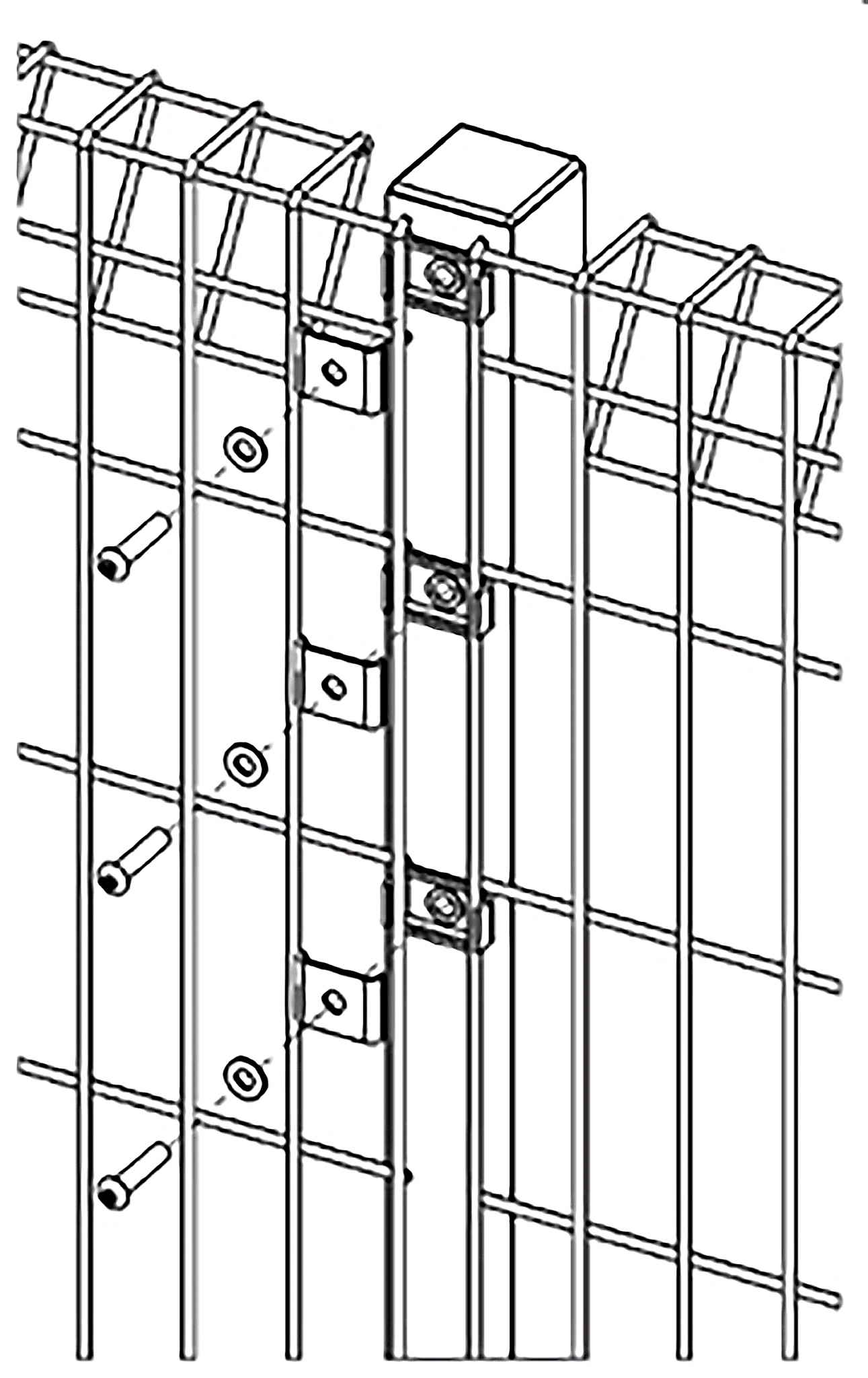 An illustration for Heras Apollo Rolled top Fencing