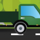 Green Free Delivery Van