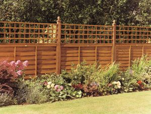 Square fence Trellis on fencing panels