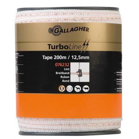 Turboline Tape 12.5mm White 200m