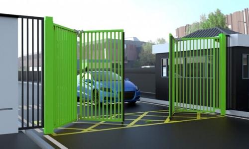 bifold commercial car park gate