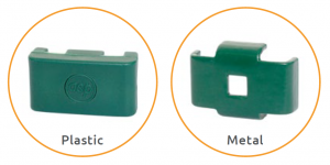 A photo of two plastic green clips for Alexandra Protek 1000 General Mesh