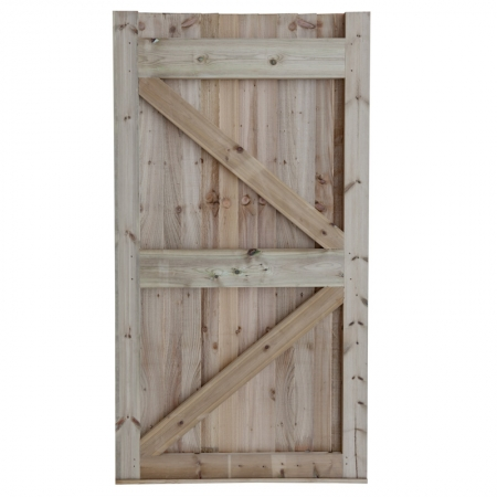 Photo of a closeboard gate form the back