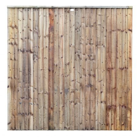 Front of a heavy duty closeboard fence panel