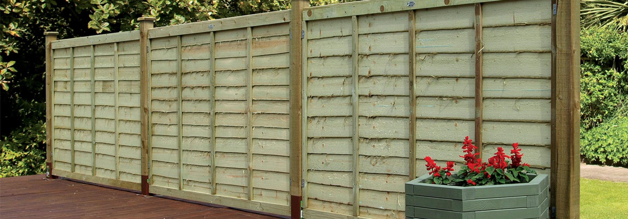 Waney edge fencing