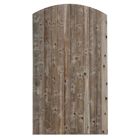 Photo of a tongue and groove V Jointed matchboard bow top gate
