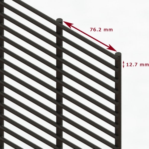 A photo of Securifor Super 6 Ultimate anti-climb and anti-cut fence panel