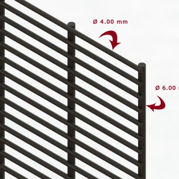 A photo of a Securifor Super 6 Ultimate anti-climb and anti-cut fence panel