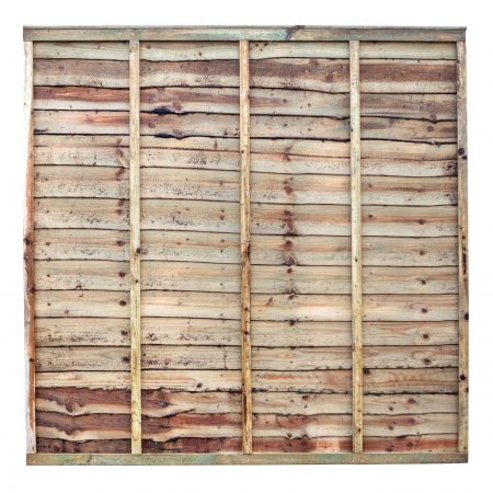 Photo of a waney edge garden fence panel